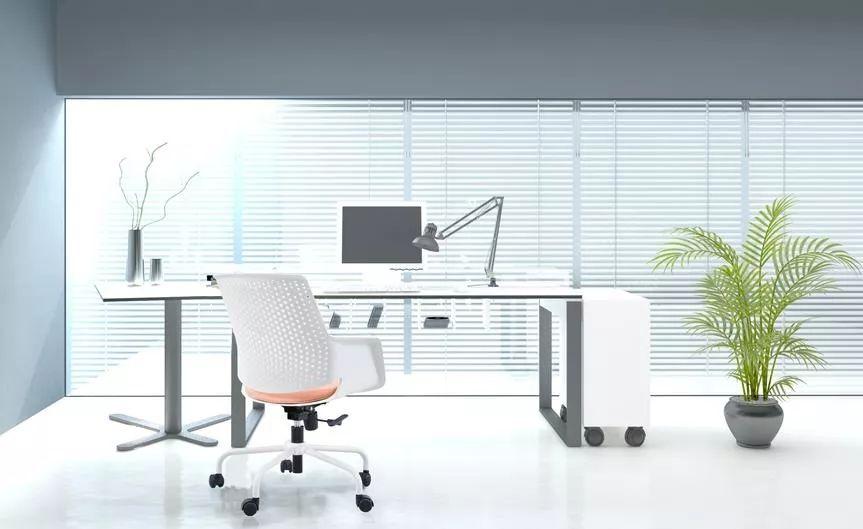 办公家具—高级灰办公椅